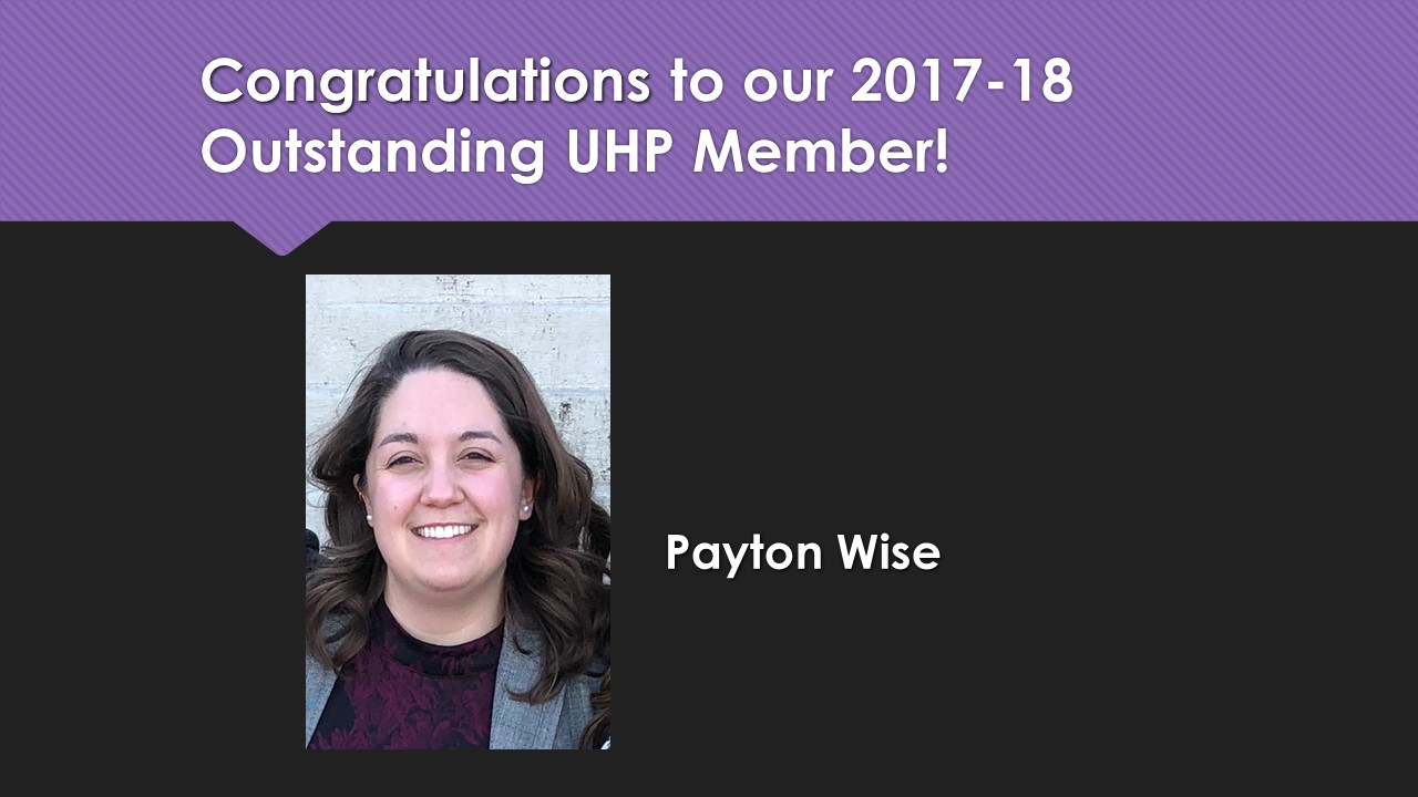 2018 Outstanding UHP Payton Wise